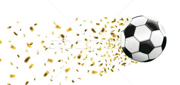 Football Golden Confetti Stardust Header Stock photo © limbi007