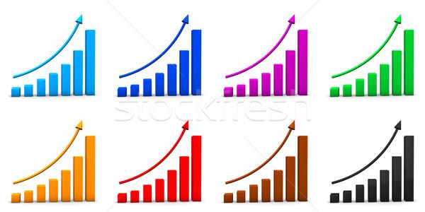 Chart Icons Stock photo © limbi007