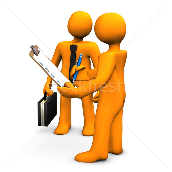Objetivo laranja desenho animado falante mulher Foto stock © limbi007