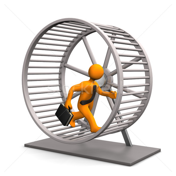 Criceto corrida roda empresário branco homem Foto stock © limbi007