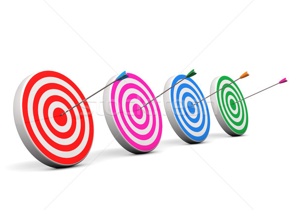 Four Bullseyes Stock photo © limbi007