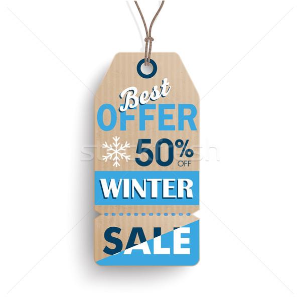 Carton Hanging Long Price Sticker Winter Sale Stock photo © limbi007