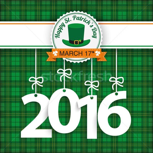 St. Patricks Day Tartan 2016 Stock photo © limbi007