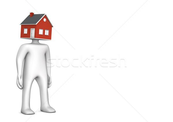 Manikin House Head Stock photo © limbi007