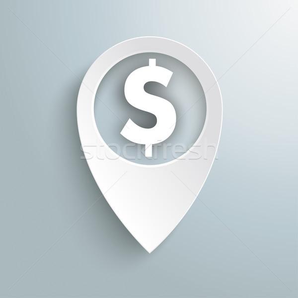 белый расположение маркер доллара символ серый Сток-фото © limbi007