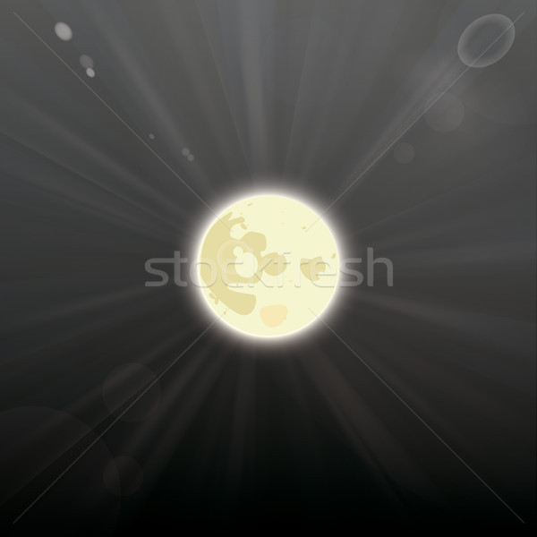 Full Moon Dark Night Sky Stock photo © limbi007