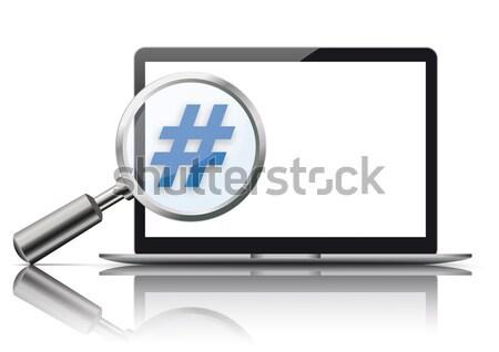Loupe Black Hashtag Banner Stock photo © limbi007