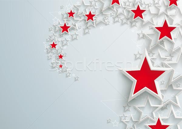 White Stars Red Stardust Stock photo © limbi007