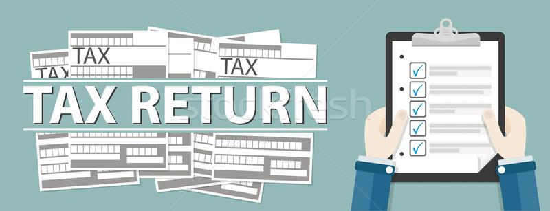 стороны буфер обмена налоговых возврат Сток-фото © limbi007