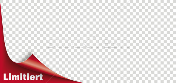 Scrolled Corner Red Paper Cover Transparent Limited Stock photo © limbi007