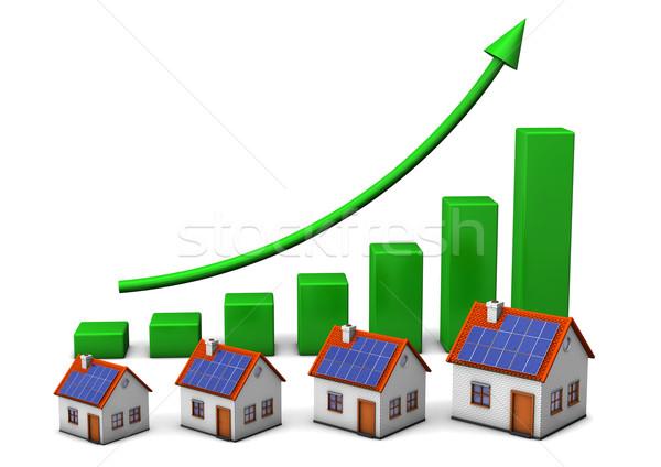 House Green Chart Stock photo © limbi007