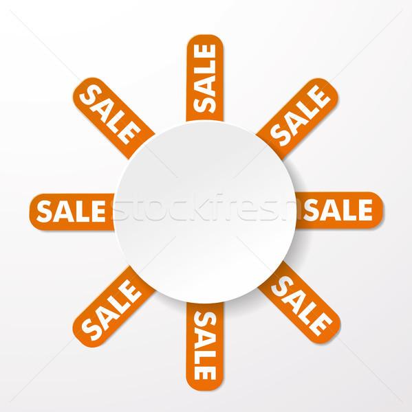 Sale Big Round Info Label Stock photo © limbi007