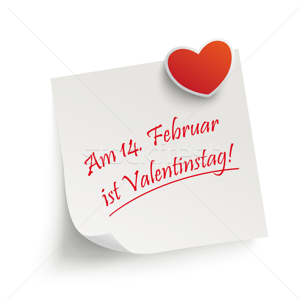 Aufkleber Valentinstag Stock photo © limbi007