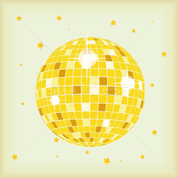 W stylu retro disco ball okładka płyta cd lp retro Zdjęcia stock © limbi007