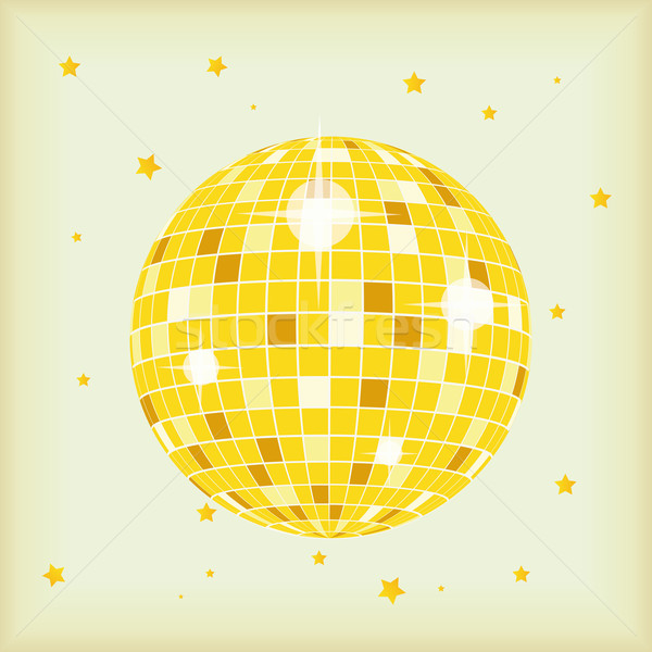 Retro-stijl disco ball dekken cd lp retro Stockfoto © limbi007