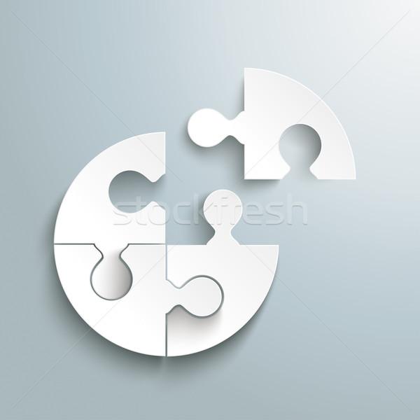 Fehér papír kör puzzle utolsó darab Stock fotó © limbi007