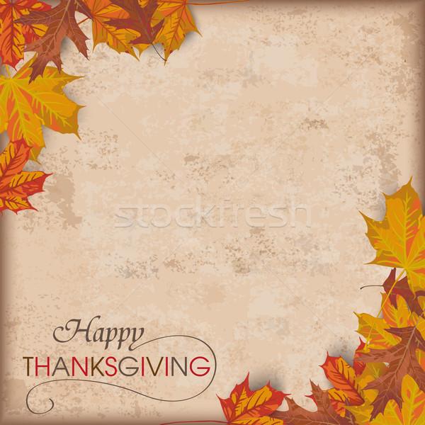 Autumn Foliage Vintage Thanksgiving Stock photo © limbi007