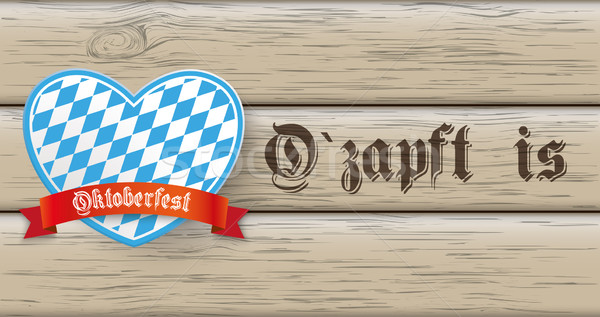 Oktoberfest Banner Heart Wood Stock photo © limbi007