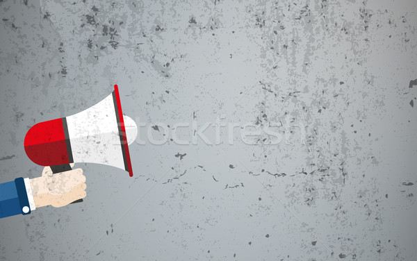 Hand Bullhorn Concrete Copyspace Stock photo © limbi007