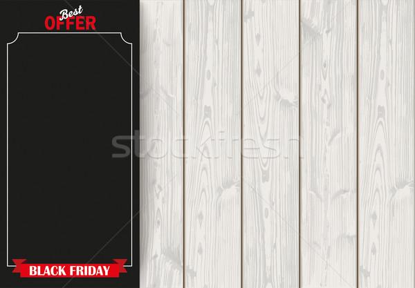 Oldal szalag black friday fa szalag fából készült Stock fotó © limbi007