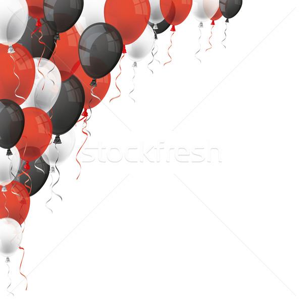 Red White Black Balloons Stock photo © limbi007