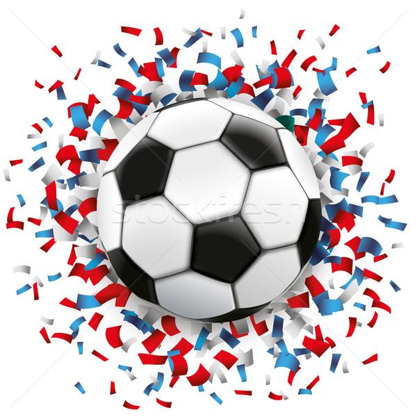 Football Blue Red Confetti France Stock photo © limbi007