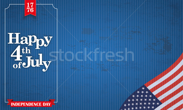 Header Vintage Happy 4 July USA Flag Frame Stock photo © limbi007