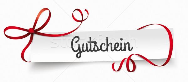 Paper Banner Ribbon Gutschein Stock photo © limbi007