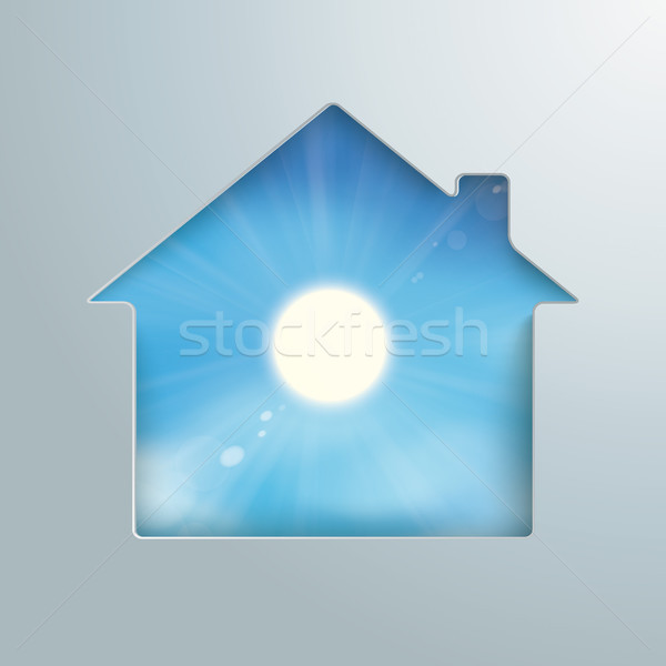 House Hole Sun Blue Sky Stock photo © limbi007