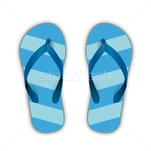 Blue Flip-Flops Stock photo © limbi007
