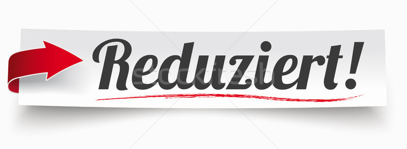 Paper Banner Red Arrow Reduziert Stock photo © limbi007