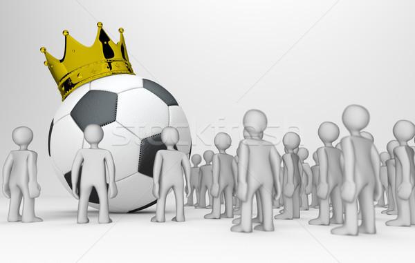King Football Manikins Stock photo © limbi007