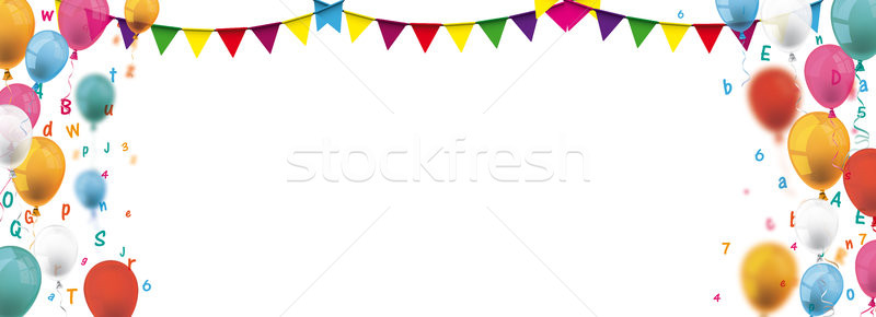 Colored Confetti Balloons Festoons Header Letters Stock photo © limbi007