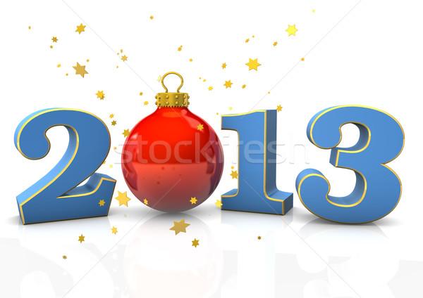 Natale 2013 testo gingillo stelle bianco Foto d'archivio © limbi007