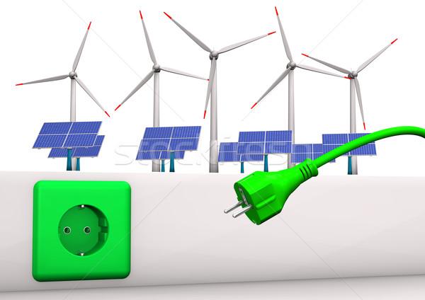 Green Energy Connector Stock photo © limbi007