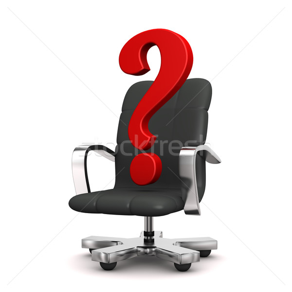 Question Mark Swivel Armchair Stock photo © limbi007