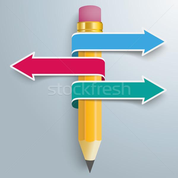 Pencil Convert 3 Arrows Stock photo © limbi007