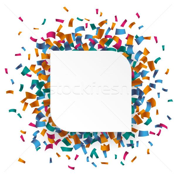 Beyaz dikdörtgen konfeti renkli eps 10 Stok fotoğraf © limbi007