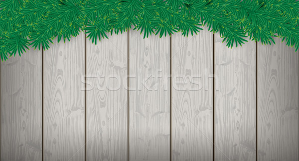 Long Christmas Card Wooden Laths Twigs Stock photo © limbi007
