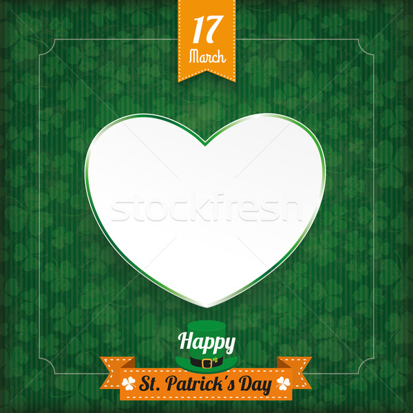 St Patricks Day Vintage Cover Heart Stock photo © limbi007