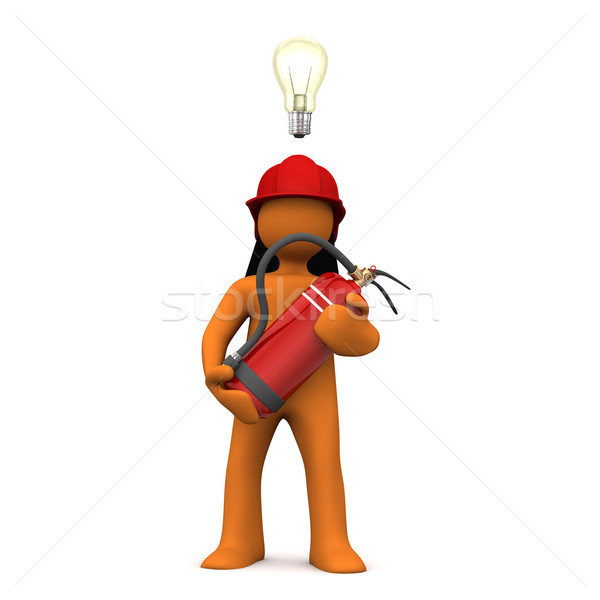 Fireman Bulb Extinguisher Stock photo © limbi007