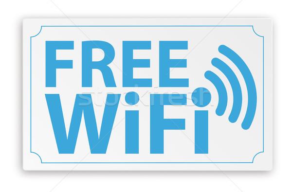 бумаги знак свободный wi-fi текста прибыль на акцию Сток-фото © limbi007