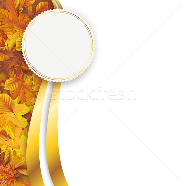 Autumn Flyer Oblong Foliage Emblem Stock photo © limbi007