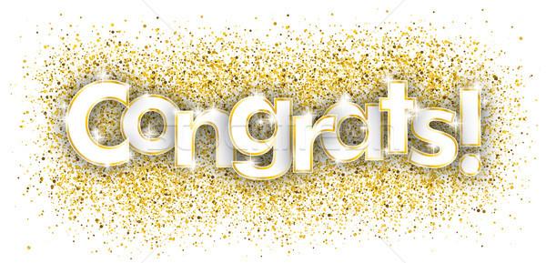 Congrats Golden Confetti Stock photo © limbi007