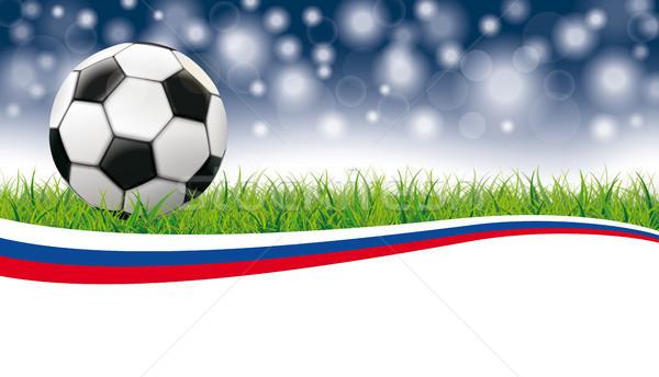 Football Grass Flash Bokeh Header Russia Stock photo © limbi007