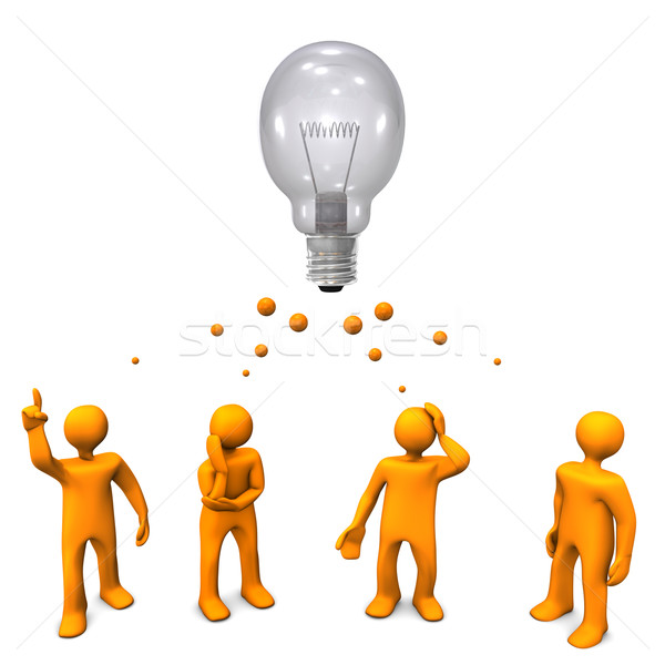 Ontwikkeling oranje cartoon groot lamp Stockfoto © limbi007