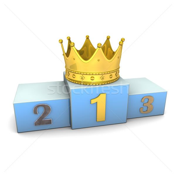 Winner Golden Crown Stock photo © limbi007