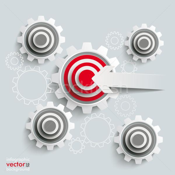 Target Gears Cut Arrow Stock photo © limbi007