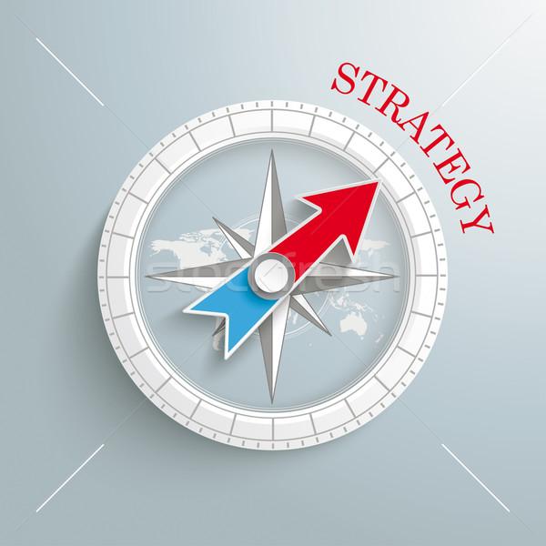 Compass Strategy Silver Background Stock photo © limbi007