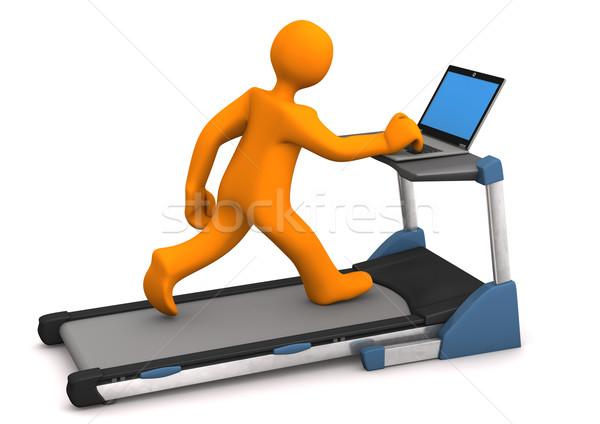 Treadmill Laptop Stock photo © limbi007